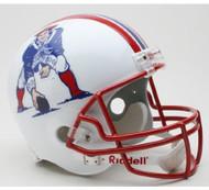 New England Patriots 1990-92 Throwback Riddell Deluxe Replica Helmet