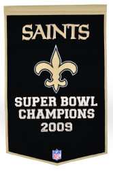 "New Orleans Saints 24""x36"" Wool Dynasty Banner"