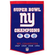 "New York Giants 24""x36"" Wool Dynasty Banner"