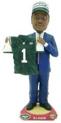 New York Jets B.J. Askew Draft Pick Forever Collectibles Bobble Head