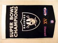 """Oakland Raiders 24""""x36"""" Wool Dynasty Banner"""