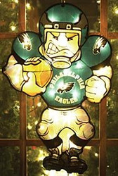 "Philadelphia Eagles 20"" Double Sided Window Light-Up Player"