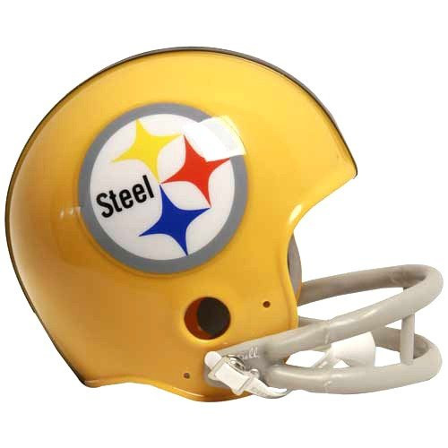 Pittsburgh Steelers 1962 Throwback Replica Mini Helmet w/ Z2B Face Mask