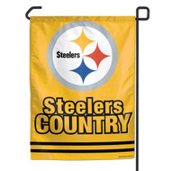 "Pittsburgh Steelers 11""x15"" Garden Flag - ""Steeler Country"""
