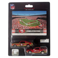 San Francisco 49ers 1:64 Mustang 2 Pack with Stadium Card