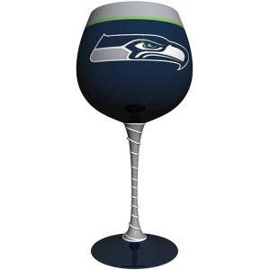 Seattle Seahawks Artisan Wine Glass