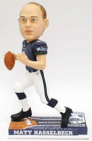 Seattle Seahawks Matt Hasselbeck Forever Collectibles On Field Bobble Head