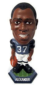 Seattle Seahawks Shaun Alexander Forever Collectibles Knucklehead Bobble Head