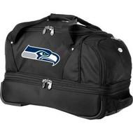Seattle Seahawks Drop Bottom Rolling Duffel Bag Luggage