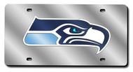 Seattle Seahawks Laser Cut Silver License Plate