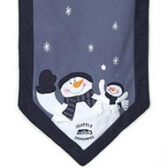"Seattle Seahawks 72""x15"" Snowman Table Runner"