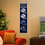 "Seattle Seahawks Wool 8""x32"" Heritage Banner"