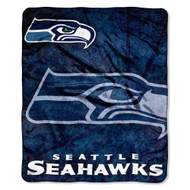 "Seattle Seahawks 50""x60"" Roll Out Style Royal Plush Raschel Throw Blanket"