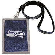 Seattle Seahawks Beaded Lanyard Wallet