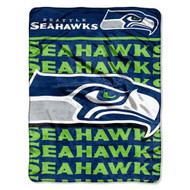 "Seattle Seahawks 46"" x 60"" Micro Raschel Throw Blanket - Livin' Large Design"