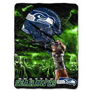 "Seattle Seahawks 60""x80"" Royal Plush Raschel Throw Blanket - Sky Helmet Style"
