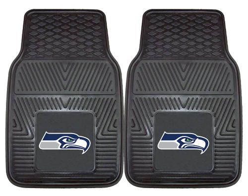 Seattle Seahawks Heavy Duty Vinyl Front Seat 2 Piece Car Mat Set