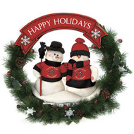 "Tampa Bay Buccaneers 20"" Team Snowman Wreath"