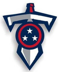 "Tennessee Titans 12"" Sword Car Magnet"