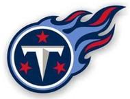 "Tennessee Titans 12"" Left Logo Car Magnet"