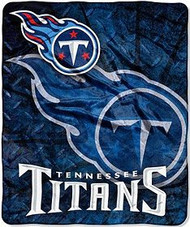 """Tennessee Titans 50""""x60"""" Roll-Out Style Royal Plush Raschel Throw Blanket"""