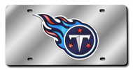 Tennessee Titans Laser Cut Silver License Plate