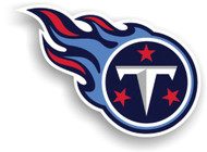 """Tennessee Titans 12"""" Right Logo Car Magnet"""