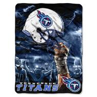 "Tennessee Titans 60""x80"" Royal Plush Raschel Throw Blanket - Sky Helmet Style"