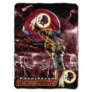 "Washington Redskins 60""x80"" Royal Plush Raschel Throw Blanket - Sky Helmet Style"