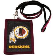 Washington Redskins Beaded Lanyard Wallet