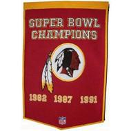 """Washington Redskins 24""""x36"""" Wool Dynasty Banner"""