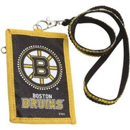 Boston Bruins Beaded Lanyard Wallet