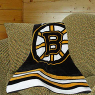 "Boston Bruins 50""x60"" Royal Plush Raschel Throw Blanket - Jersey Design"