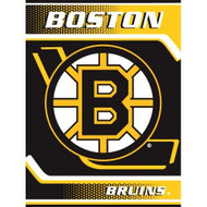 "Boston Bruins 60""x80"" Royal Plush Raschel Throw Blanket"