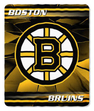 Boston Bruins 50x60 Fleece Blanket - Ice Design