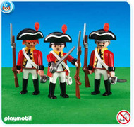3 British Redcoat Soldiers