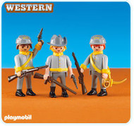 Playmobil 3 Confederate Soldiers 6276