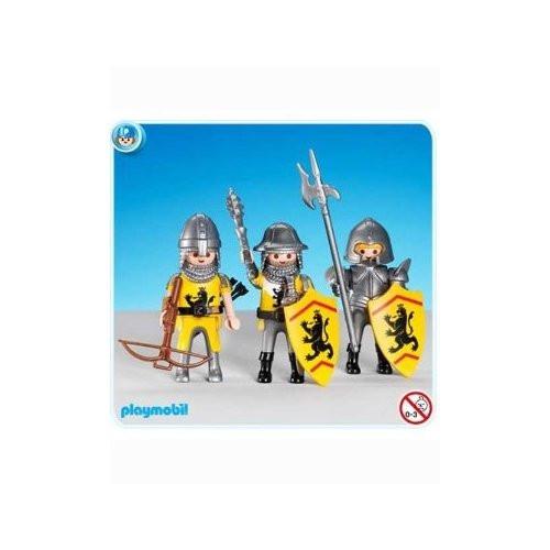 3 Yellow Lion Knights