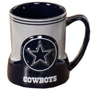 Dallas Cowboys 20 Ounce Game Time Sculpted Logo Relief Coffee Mug