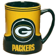 Green Bay Packers 20 Ounce Game Time Sculpted Logo Relief Coffee Mug