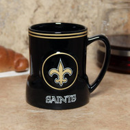 New Orleans Saints 20 Ounce Game Time Sculpted Logo Relief Coffee Mug