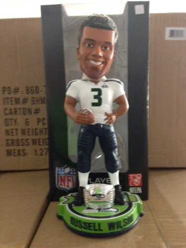 NFL Seattle Seahawks Wilson R #3 Super Bowl XLVIII Champions Bobble