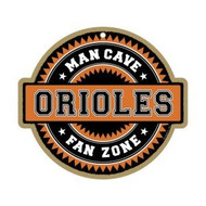 Baltimore Orioles Man Cave Fan Zone Wood Sign