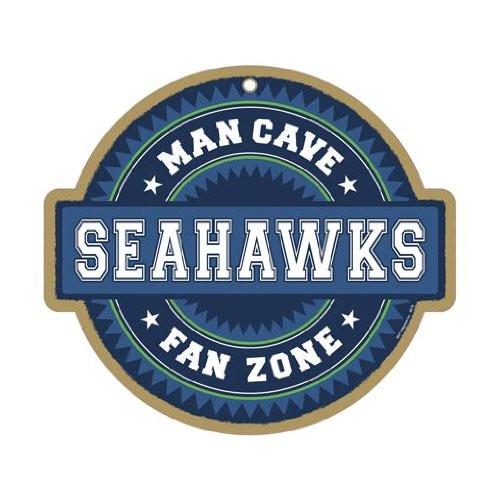 Seattle Seahawks Man Cave Fan Zone Wood Sign