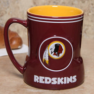 Washington Redskins 20 Ounce Game Time Sculpted Logo Relief Coffee Mug