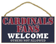 St Louis Cardinals Small Wood Welcome Sign