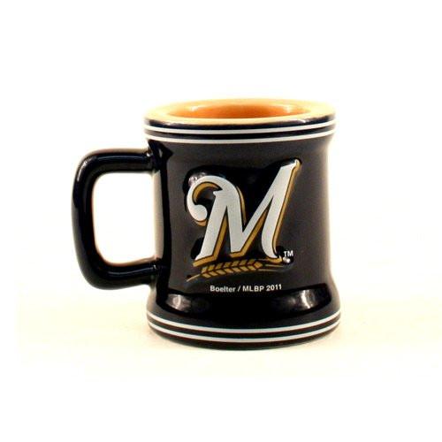 Milwaukee Brewers Sculpted Mini Mug Shot Glass