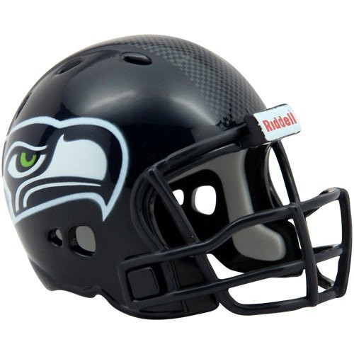 NFL Riddell Seattle Seahawks Revolution Pocket Pro Micro Helmet - Navy Blue