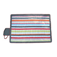 "JJ Cole Outdoor Blanket, Gray/Red, 7"" x 5"""
