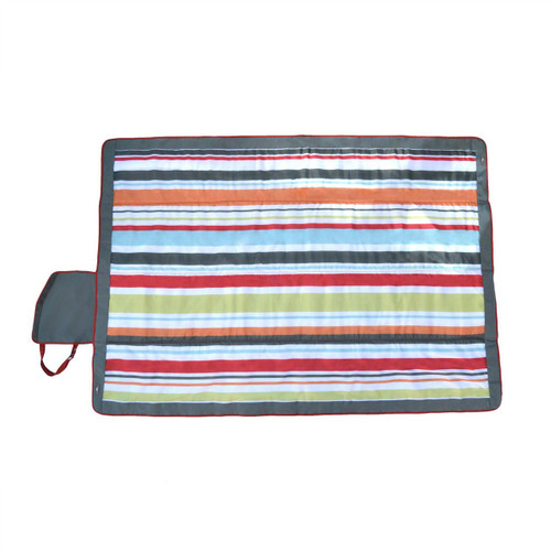 """JJ Cole Outdoor Blanket, Gray/Red, 7"""" x 5"""""""